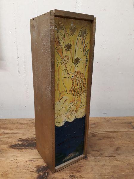 Holzkiste für 1 Flasche natur oder Motiv-Copy
