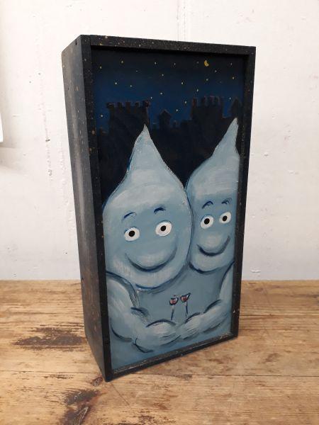 Holzkiste für 2 Flaschen natur oder Motiv
